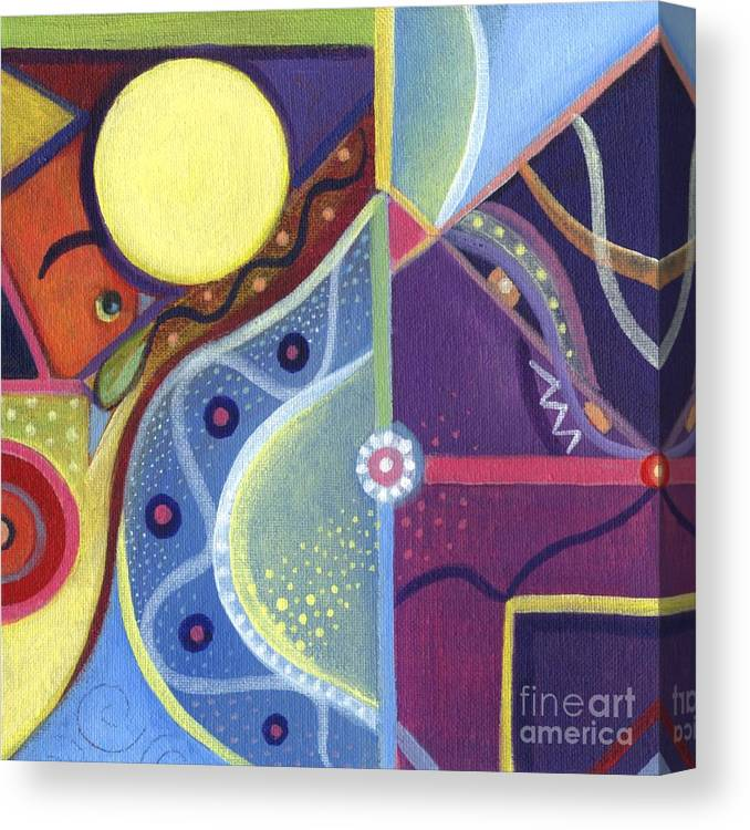Abstract Canvas Print featuring the painting The Joy Of Design Xl by Helena Tiainen