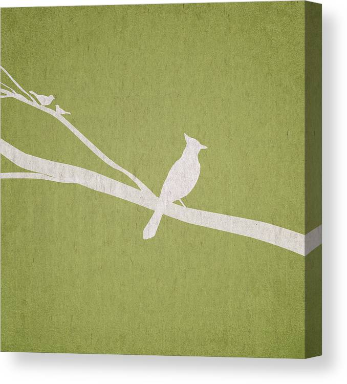 Contemporary Art Canvas Print featuring the digital art The Tree Branch by Aged Pixel