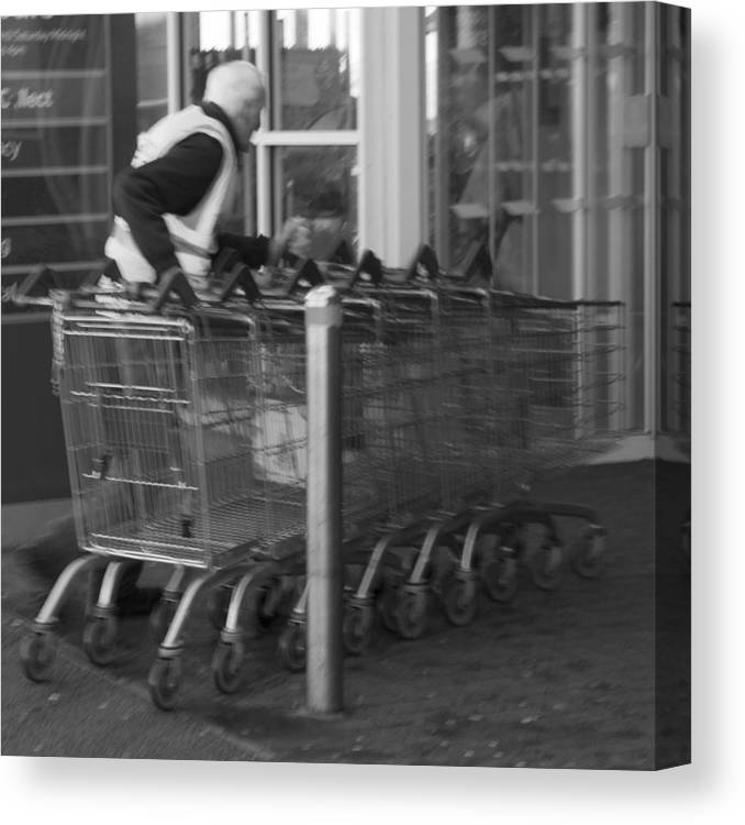 Shopping Canvas Print featuring the digital art Trolley Dash by Emma Vernel