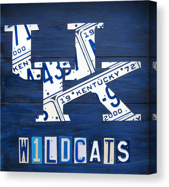 university of kentucky wildcats sports team retro logo recycled