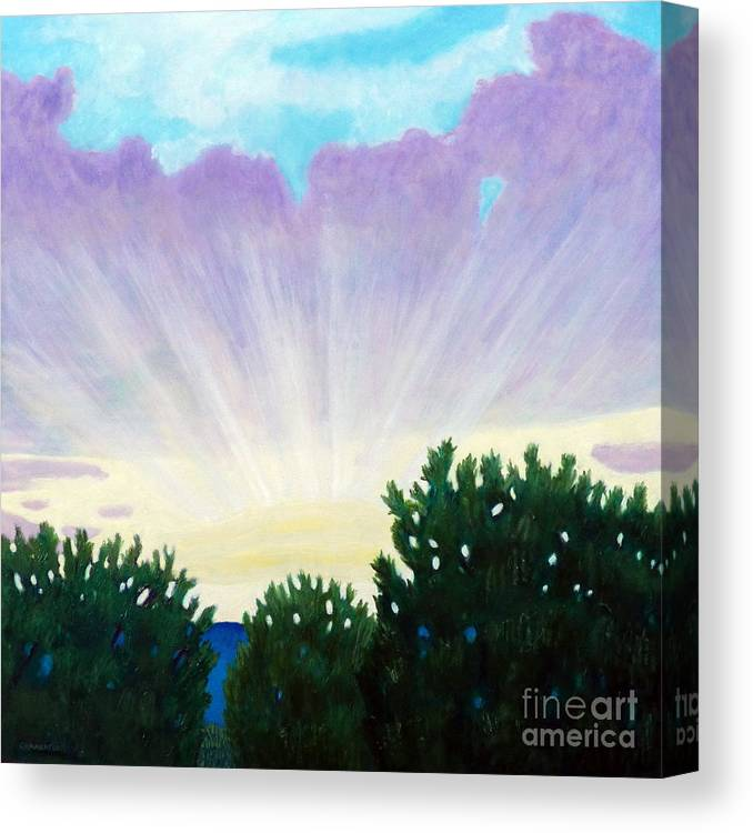 Skyscape Canvas Print featuring the painting Visionary Sky by Brian Commerford