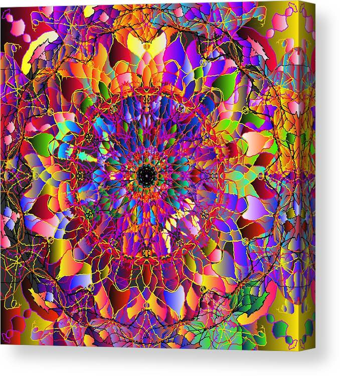 Canvas Print featuring the digital art 2012-05-15-1 by Peter Shor