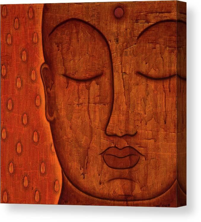 Buddha Canvas Print featuring the mixed media Awakened Mind by Gloria Rothrock