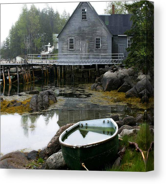 Maine Canvas Print featuring the photograph Better Days by Don Powers