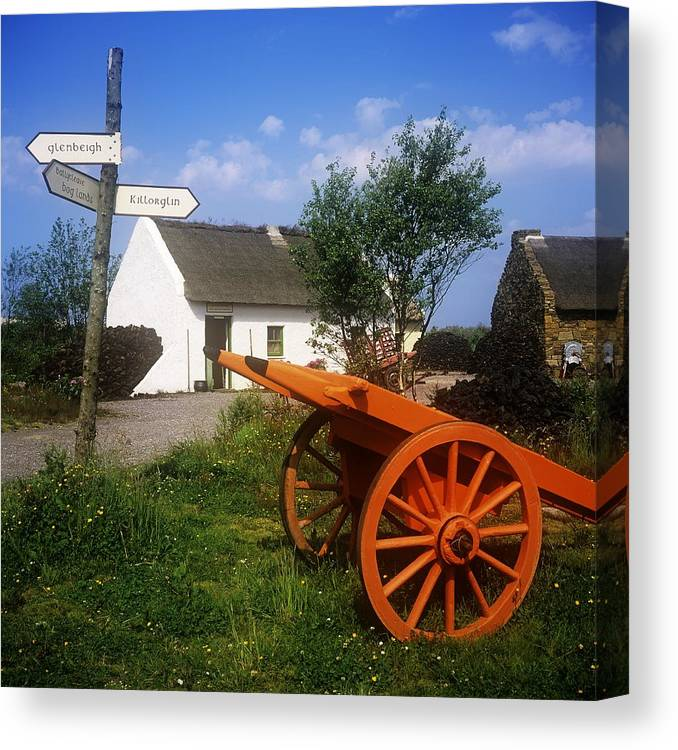 Board Canvas Print featuring the photograph Cart On The Roadside Of A Village, The by The Irish Image Collection