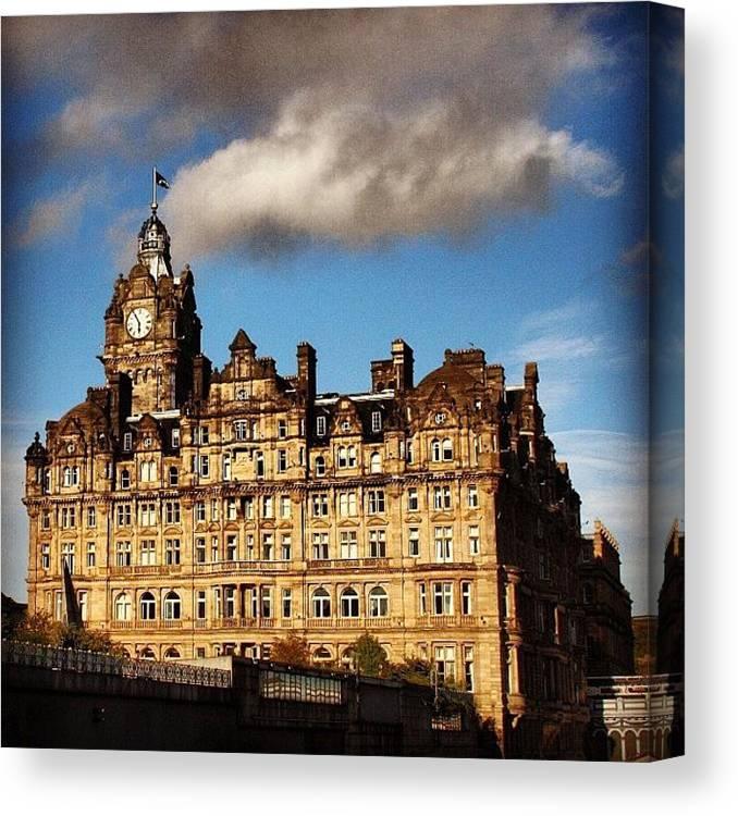 Europe Canvas Print featuring the photograph Edinburgh by Luisa Azzolini