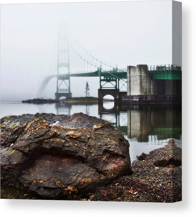 Maine Canvas Print featuring the photograph Into The Fog by Don Powers