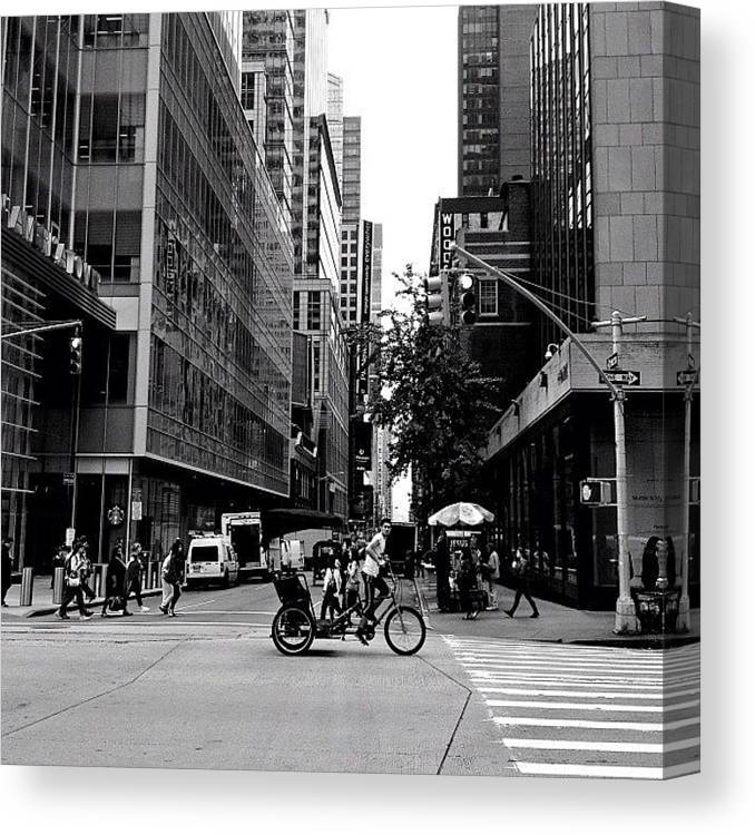New York City Canvas Print featuring the photograph New York City Flow Of Life by Vivienne Gucwa