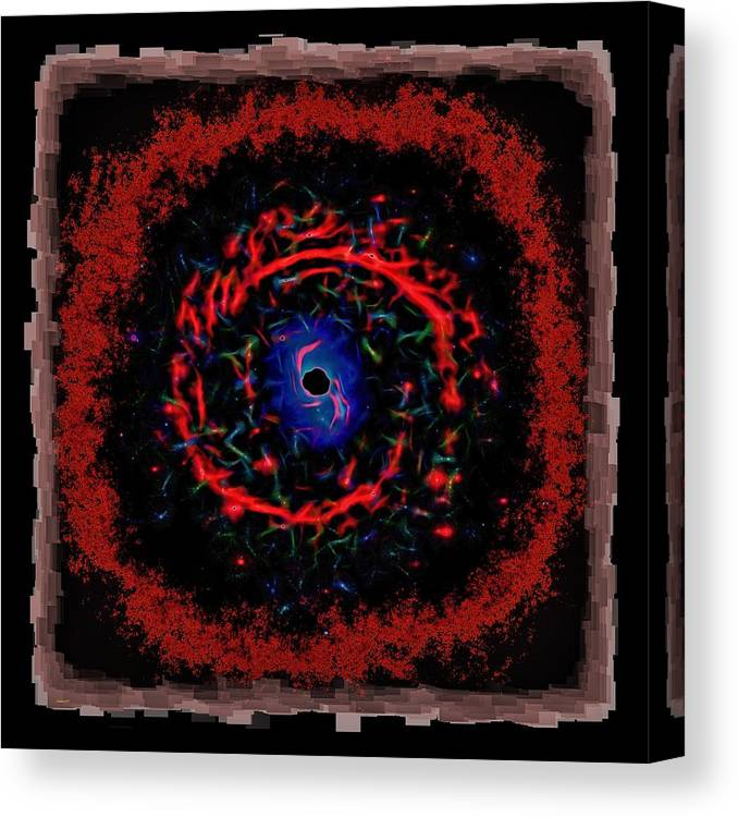 Abstract Canvas Print featuring the photograph Cosmic Eye 2 by John M Bailey