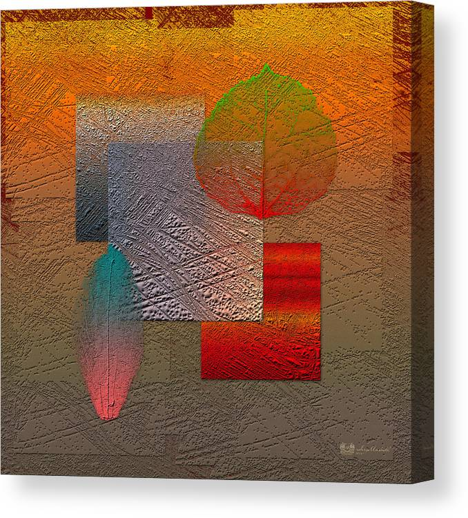 Abstracts By Serge Averbukh Canvas Print featuring the photograph Quiet Sunset At The End Of Northern Summer by Serge Averbukh