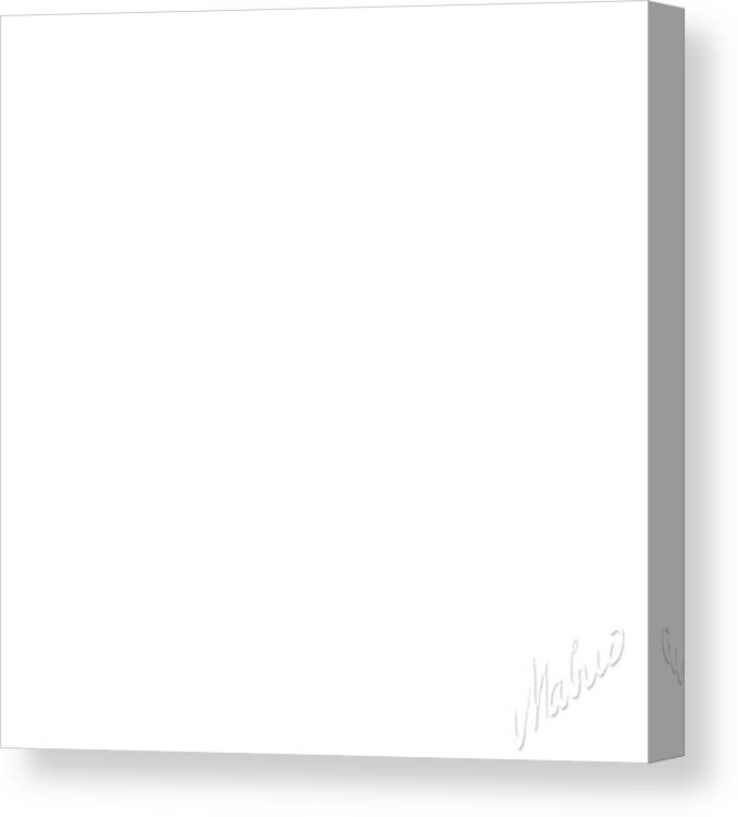 Altar Canvas Print featuring the painting White Square by Valeriy Mavlo