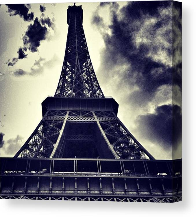 Instaaddict Canvas Print featuring the photograph #paris by Ritchie Garrod