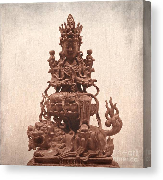 Buddha Canvas Print featuring the photograph Buddha by MingTa Li