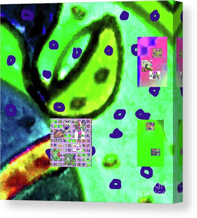 Walter Paul Bebirian Canvas Print featuring the digital art 8-3-2015cabcdefghijklmnopqrtu by Walter Paul Bebirian