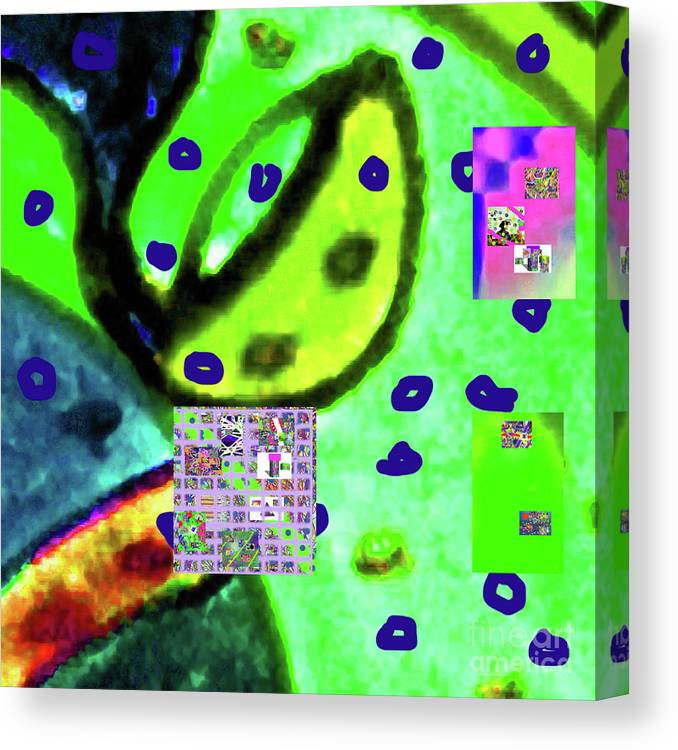 Walter Paul Bebirian Canvas Print featuring the digital art 8-3-2015cabcdefghijklmnopqrtuv by Walter Paul Bebirian