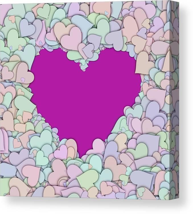 Heart Canvas Print featuring the digital art Love Heart Valentine Shape by Miroslav Nemecek