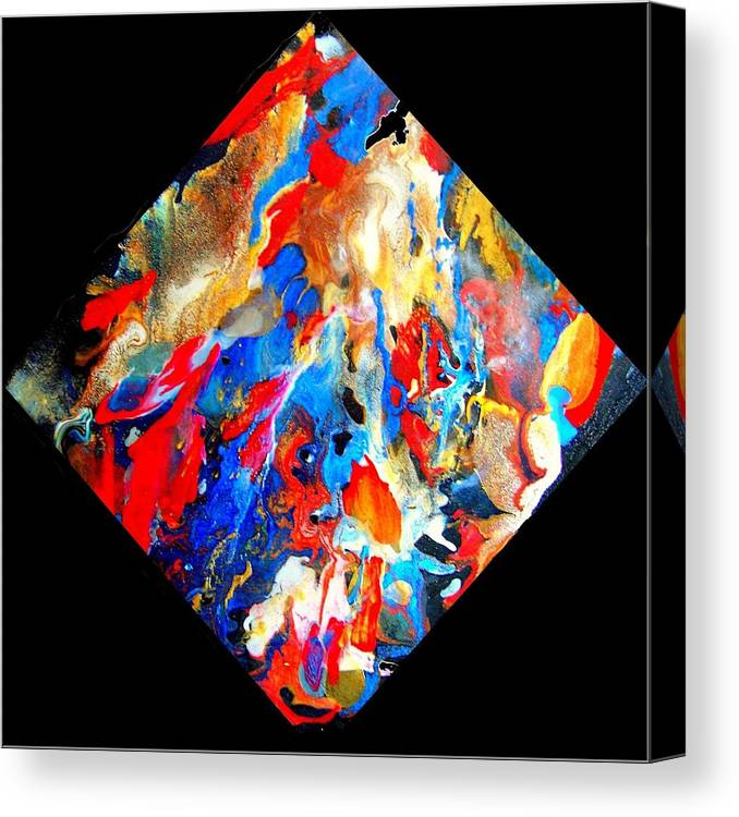 Abstract Canvas Print featuring the painting Abstract - Evolution Series 1001 by Dina Sierra