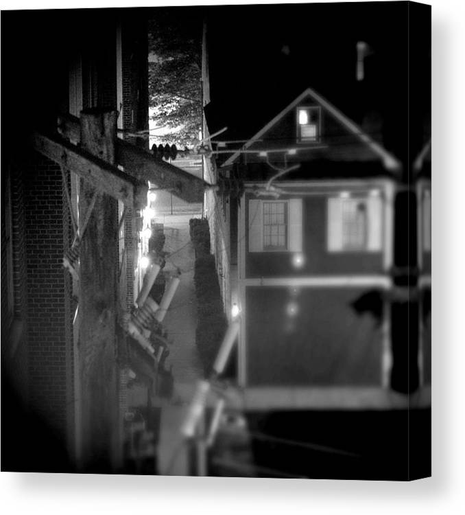 Alley Canvas Print featuring the photograph Alley To High by Jean Macaluso