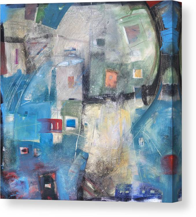 Abstract Canvas Print featuring the painting Bayer Works Wonders by Tim Nyberg