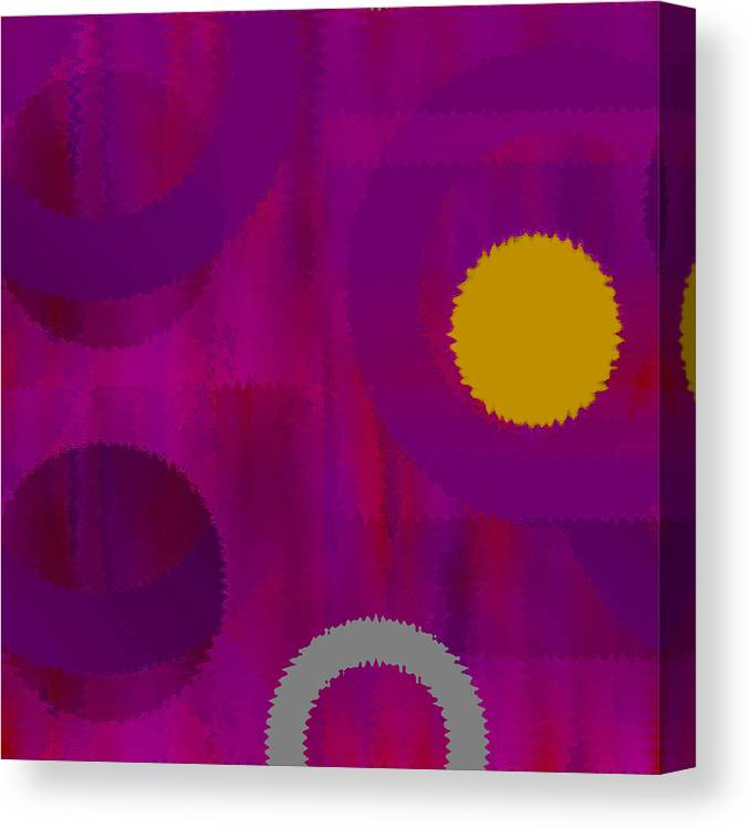 Abstract Canvas Print featuring the digital art Be Happy II by Ruth Palmer