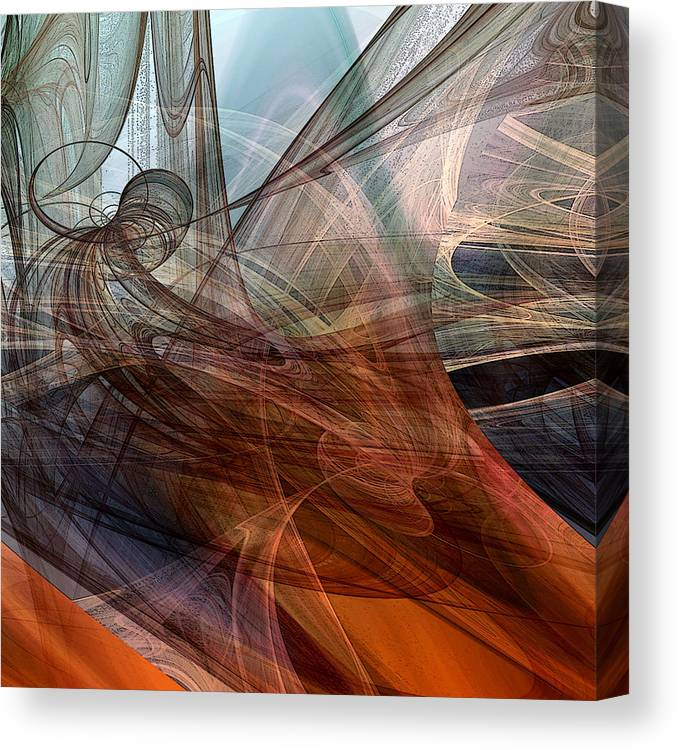 Abstract Canvas Print featuring the digital art Complex Decisions by Ruth Palmer