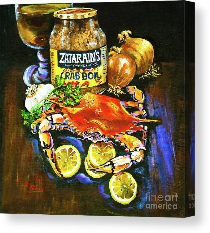 New Orleans Canvas Print featuring the painting Crab Fixin's by Dianne Parks