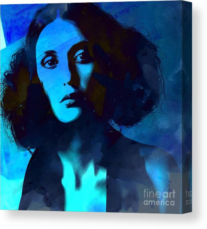 Woman Canvas Print featuring the photograph Crystal Beth Series #9 by Tanya Stringer