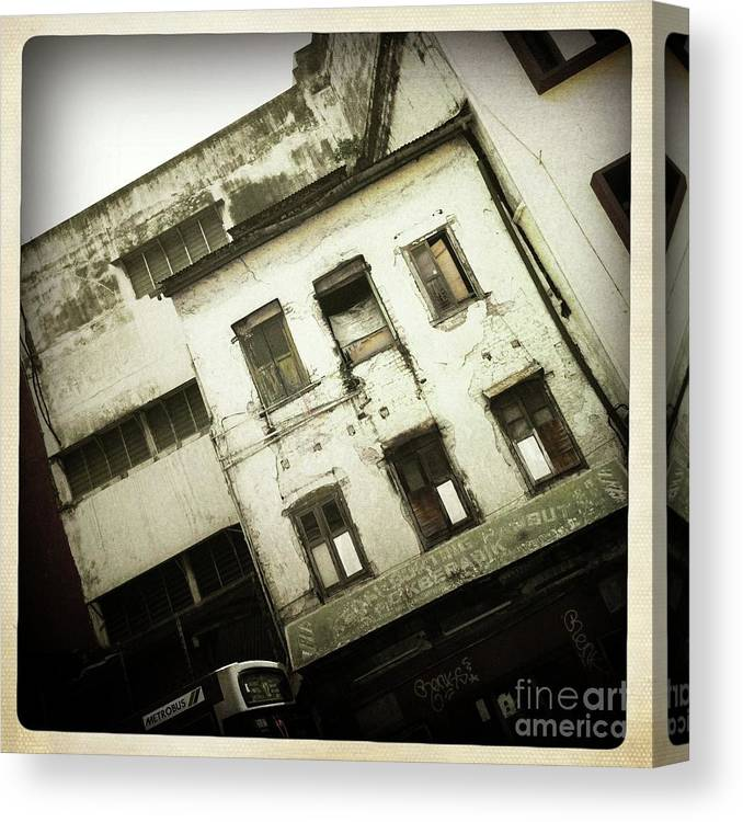 Malaysia Canvas Print featuring the photograph Decay Kuala Lumpor by Collective Seventy