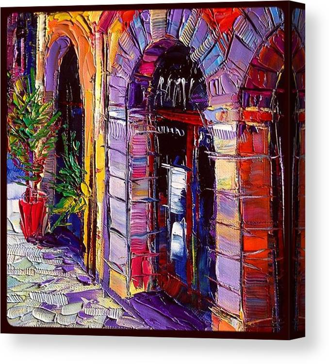 Monaedulesco Canvas Print featuring the painting Detail Of A New #painting by Mona Edulesco