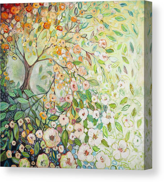 Tree Canvas Print featuring the painting Enchanted by Jennifer Lommers