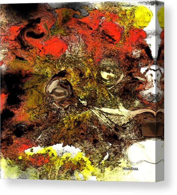 Digital Art Canvas Print featuring the digital art Exotic Creature by Hema Rana