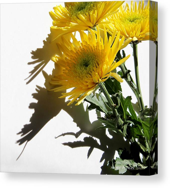 Floral Canvas Print featuring the photograph Floral No4 by Kume Bryant