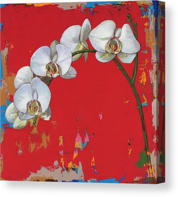Flower Canvas Print featuring the painting Flowers #14 by David Palmer
