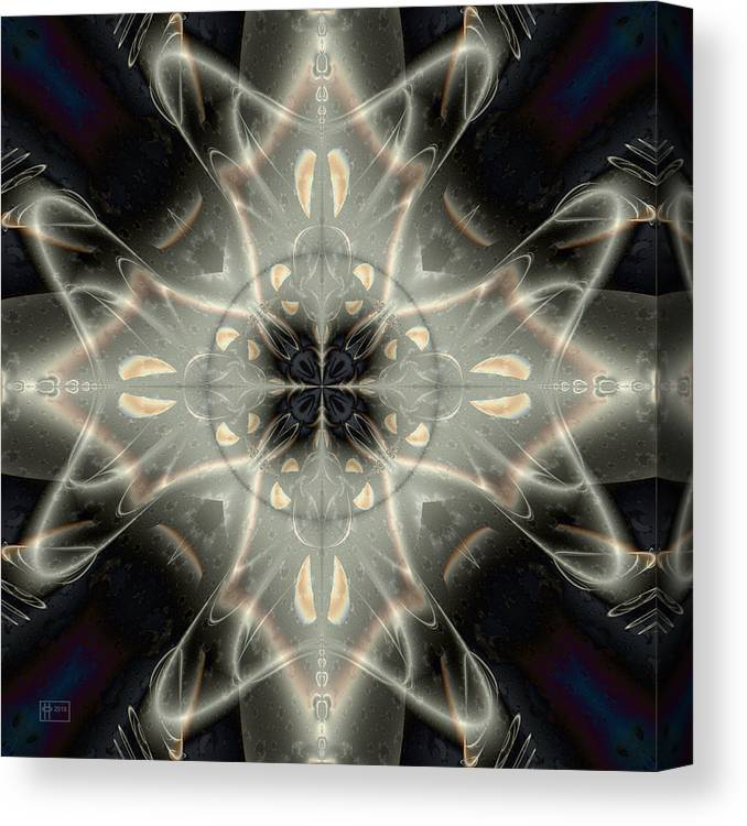 Abstract Canvas Print featuring the digital art Ghostly Memories by Jim Pavelle