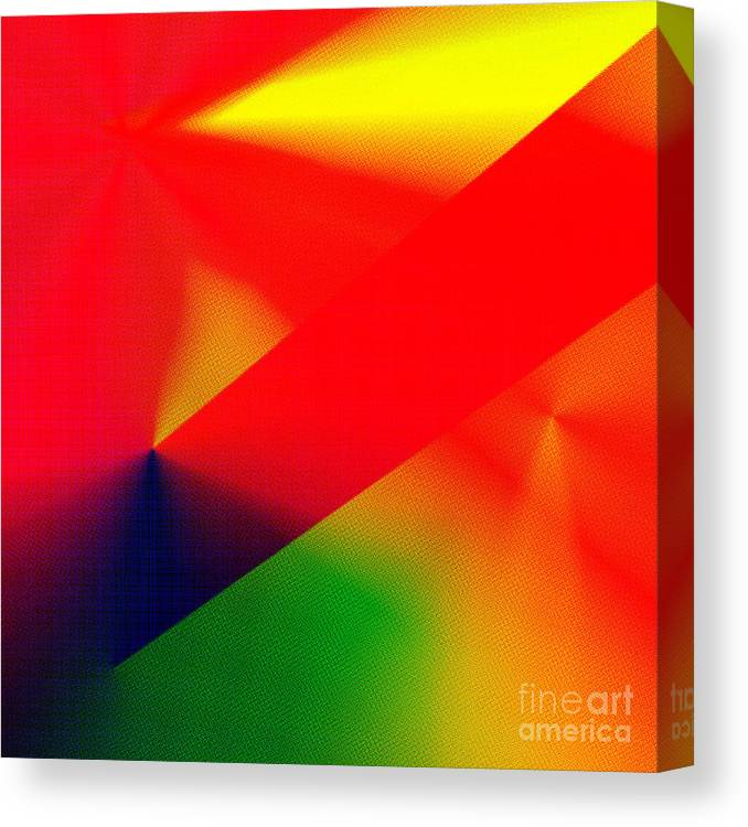 Unique Canvas Print featuring the digital art Halftone Colorful Abstract by Susan Stevenson