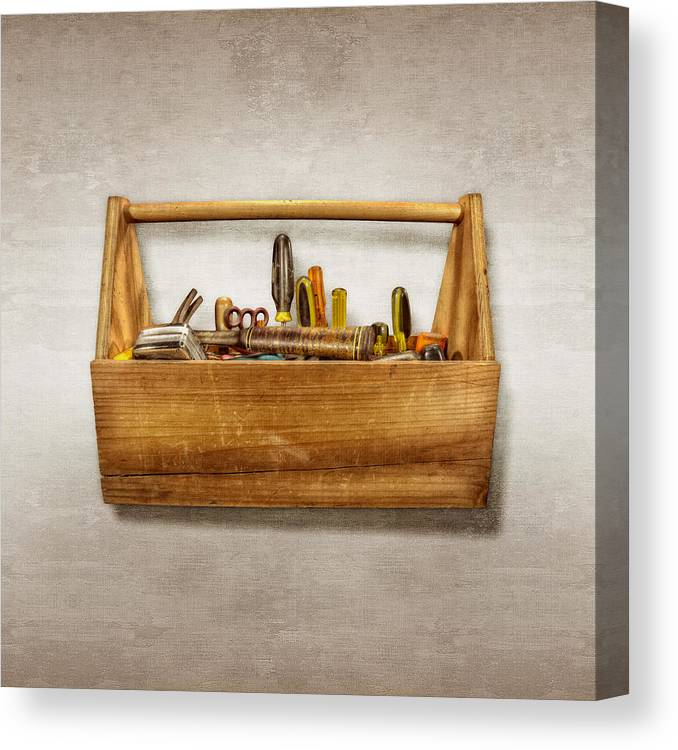 Box Canvas Print featuring the photograph Henry's Toolbox by YoPedro