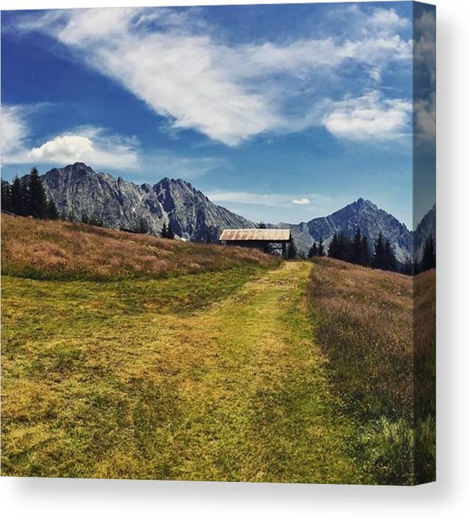 Merano Canvas Print featuring the photograph #hirzer #altoadige #südtirol #mountain by Luisa Azzolini