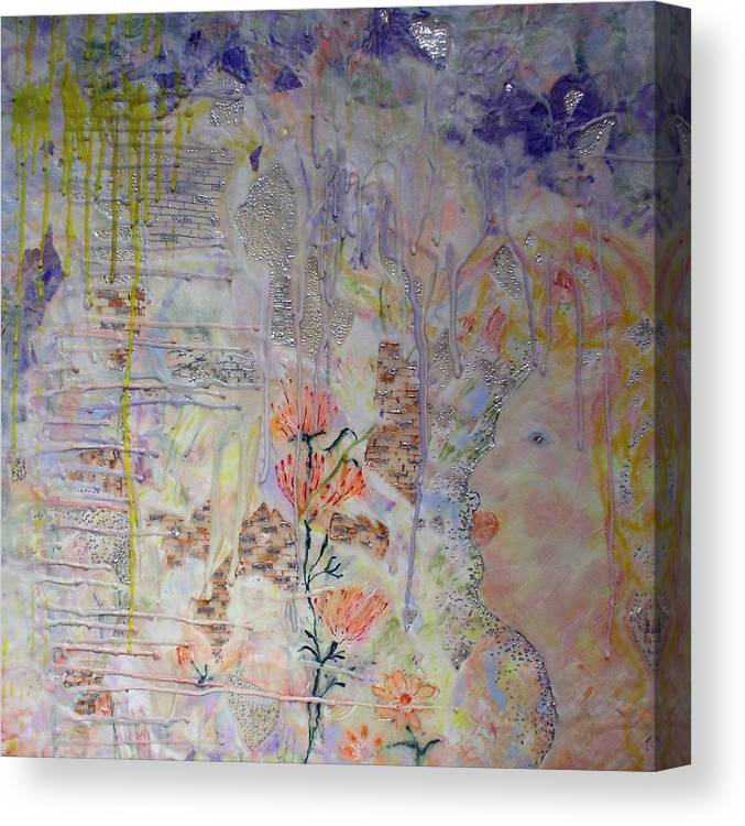 Abstract Canvas Print featuring the painting In The Now by Heather Hennick