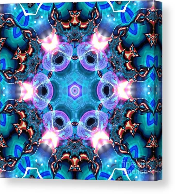 Art Canvas Print featuring the digital art Kaleidoscope 1 by JD Poplin
