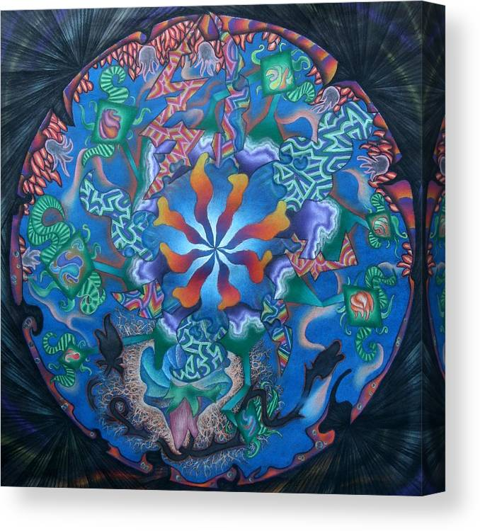 Pastel Canvas Print featuring the pastel Kaleidoscope Eyes by Angelina G T