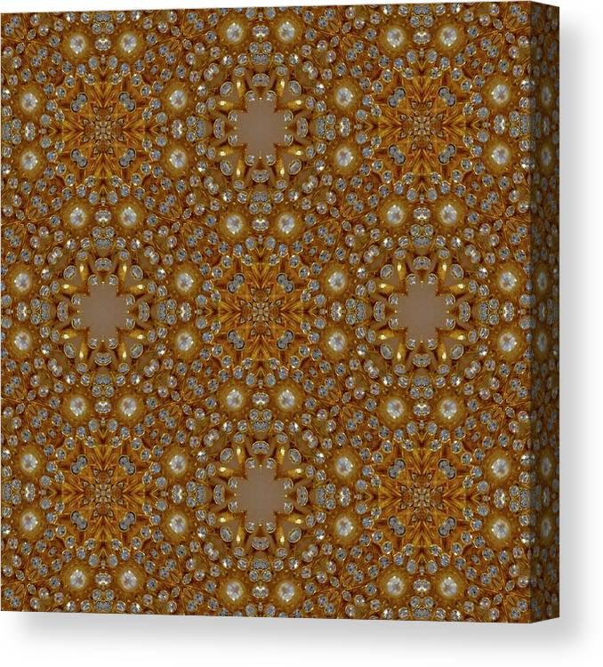 Digital Kaleidoscopes Canvas Print featuring the photograph Kaleidoscopes0 10 by David Lange