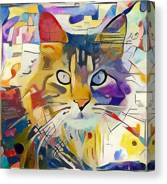 Kandinsky Canvas Print featuring the digital art Kandinsky Cat by Yury Malkov