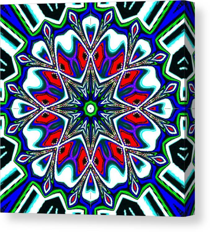 Ice Canvas Print featuring the digital art Kono by Blind Ape Art