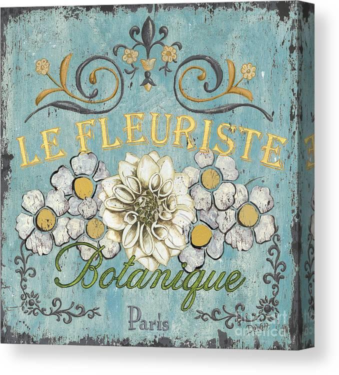 Flowers Canvas Print featuring the painting Le Fleuriste De Botanique by Debbie DeWitt