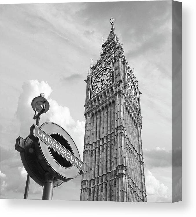 7a076a4f8ab London Canvas Print featuring the photograph London Underground by Gill  Billington