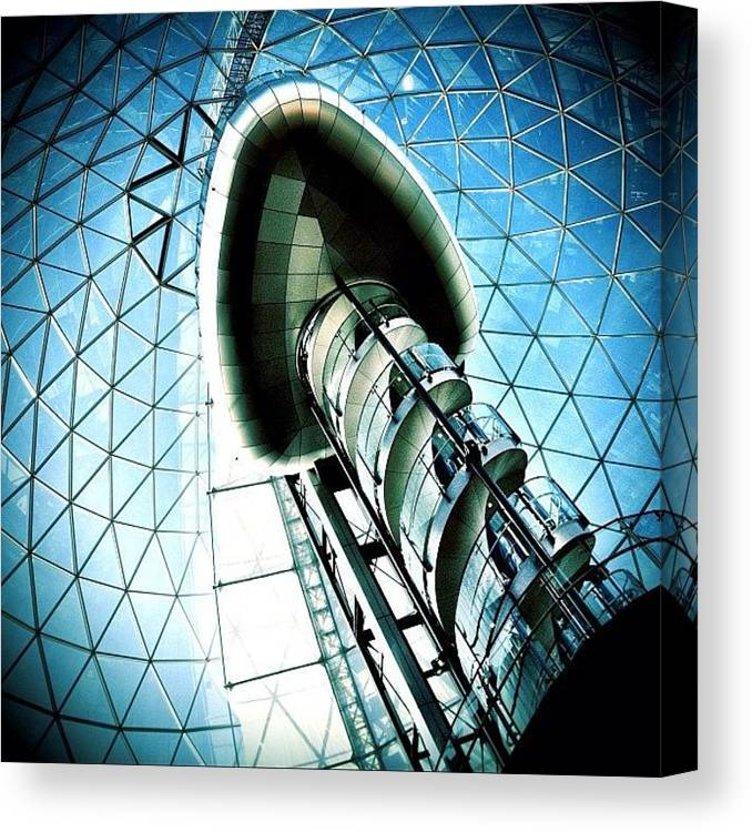 Shop Canvas Print featuring the photograph Mall by Mark B