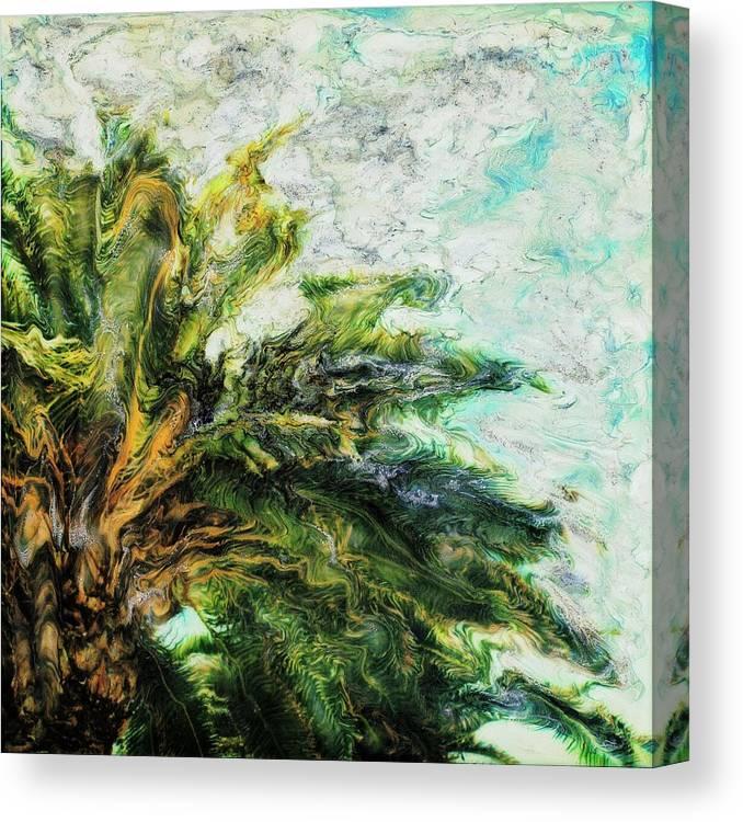Paul Tokarski Canvas Print featuring the photograph Mystical Palm by Paul Tokarski