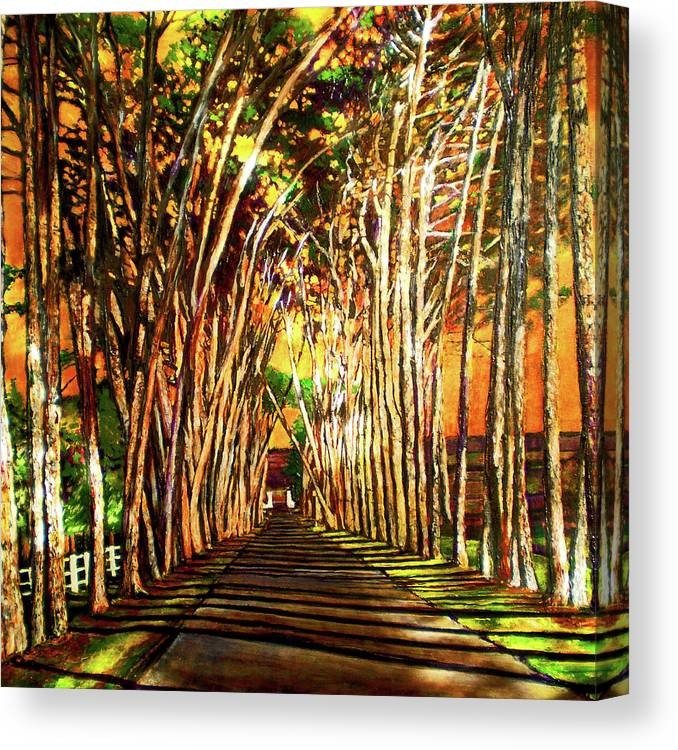 Vineyard Canvas Print featuring the painting On The Road by Michael Durst