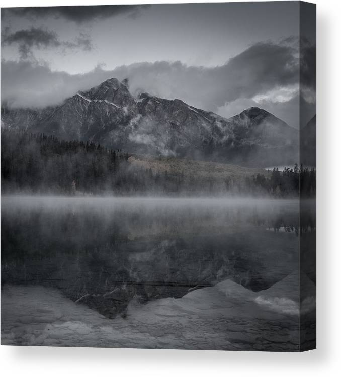 Canada Canvas Print featuring the photograph Patricia Lake Morning by Brian Hershberger