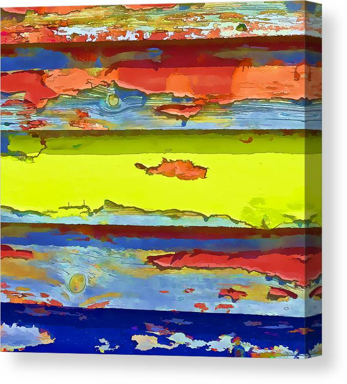 Paint Canvas Print featuring the photograph Peeling Paint II by Gareth Davies
